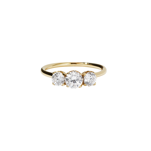 Signature 3 Stone Ring | 18ct Yellow Gold
