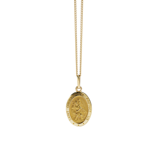 St Christopher Necklace | 9ct Yellow Gold