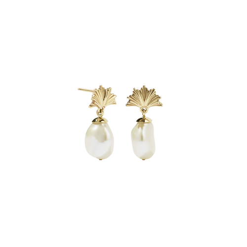 Vita Drop Earrings Small | 9ct Yellow Gold