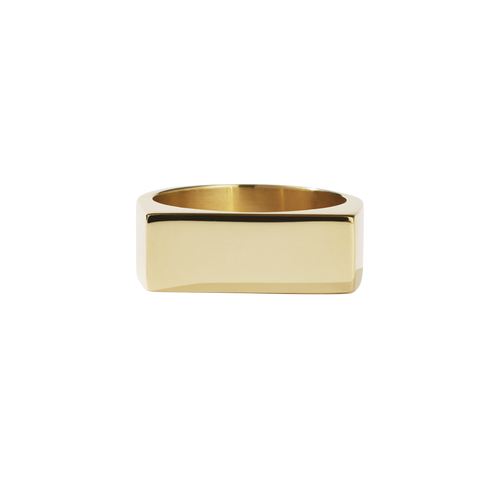 Wilshire Signet Ring | Gold Plated