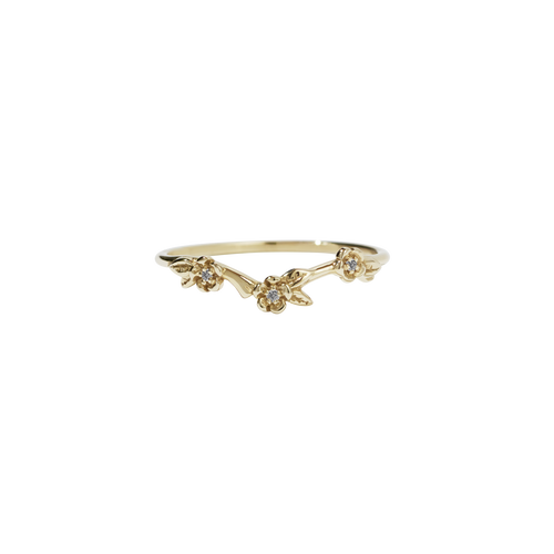 Alba Band Stone Set | 9ct Yellow Gold