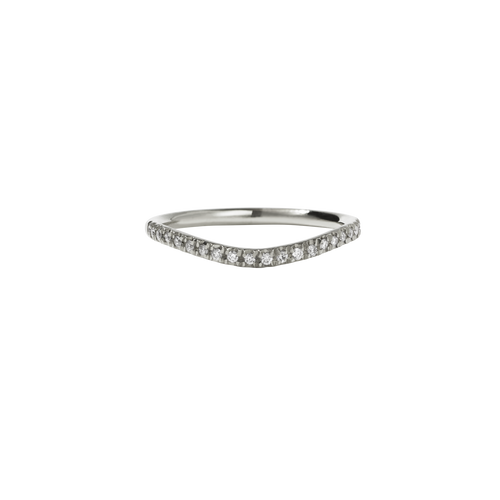 Amelie Band Pave | 14ct White Gold