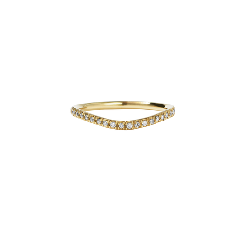 Amelie Band Pave | 18ct Yellow Gold