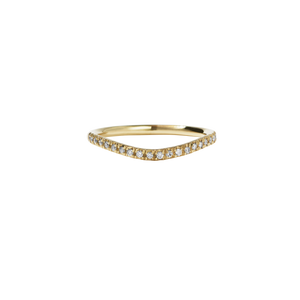 Amelie Band Pave | 9ct Yellow Gold