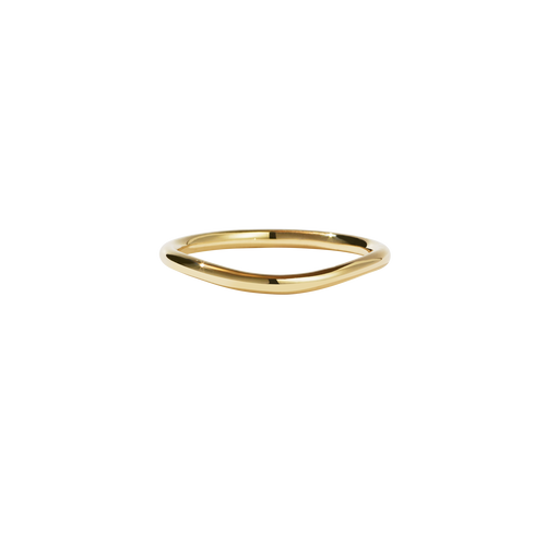 Amelie Band Plain | 14ct Yellow Gold