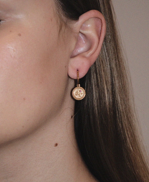Amulet Love Earrings | 9ct Yellow Gold