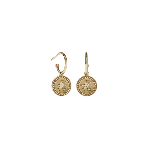 Amulet Peace Earrings | 9ct Yellow Gold