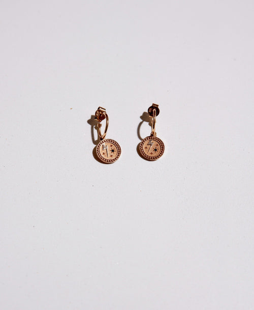 Amulet Strength Earrings | 9ct Yellow Gold