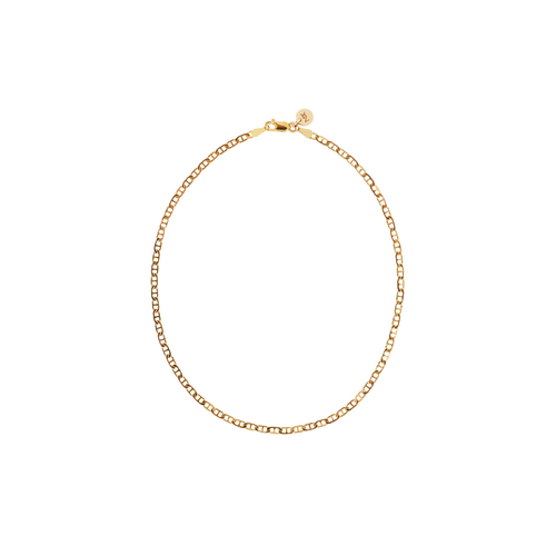 Anchor Chain Anklet | 9ct Yellow Gold