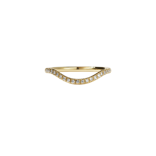Aphrodite Band Pave | 14ct Yellow Gold