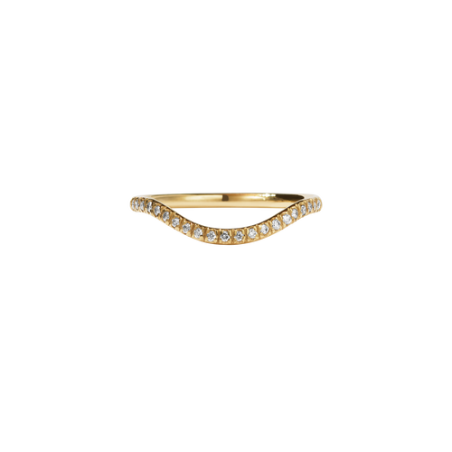 Aphrodite Band Pave | 18ct Yellow Gold