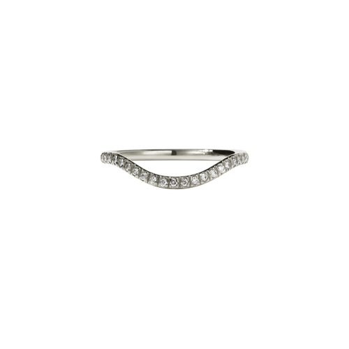Aphrodite Band Pave | 9ct White Gold