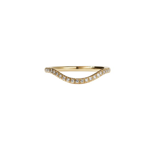 Aphrodite Band Pave | 9ct Yellow Gold