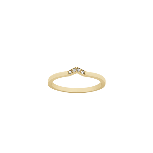 Arrow Band | 18ct Yellow Gold