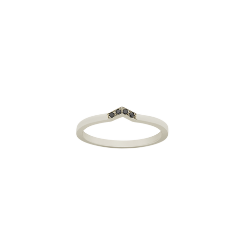 Arrow Band | 9ct White Gold