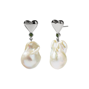 Camille Pearl Earrings | Sterling Silver