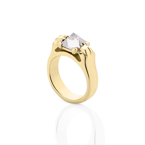 Cat Paw Pyramid Ring | 9ct Yellow Gold