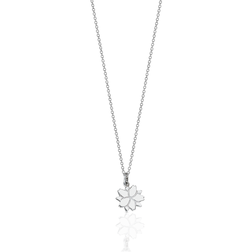 Cherry Blossom Charm Necklace | Sterling Silver