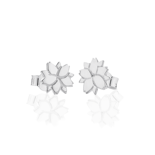 Cherry Blossom Stud Earrings | Sterling Silver