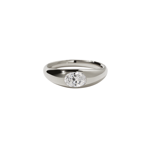 Claude Ring with Stone | 9ct White Gold