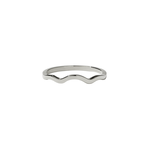 Clementine Band Plain | 14ct White Gold