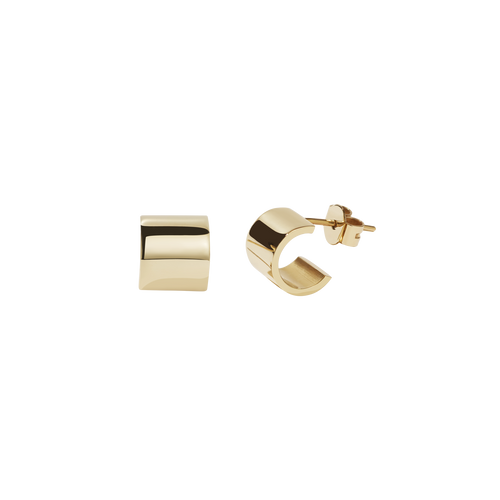 Cuff Stud Earrings | 9ct Yellow Gold