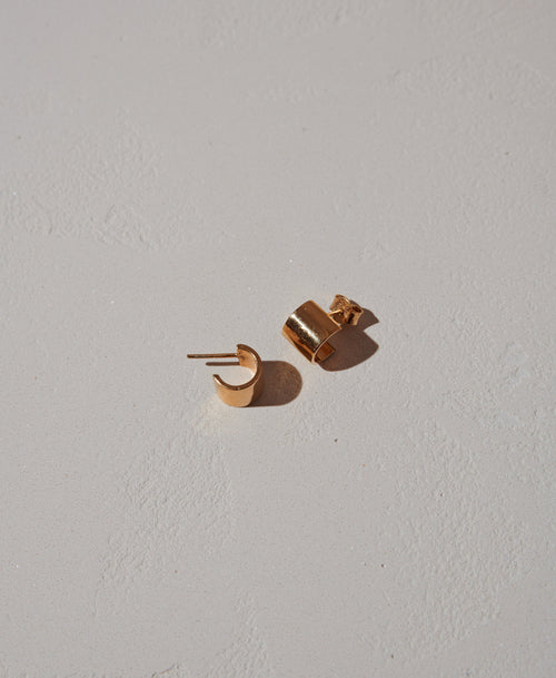 Cuff Stud Earrings | Sterling Silver