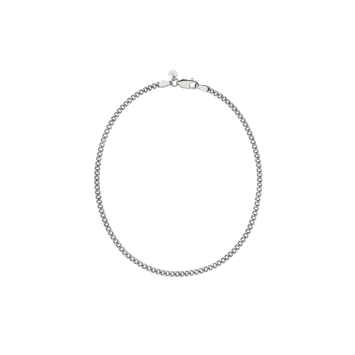 Curb Chain Anklet | Sterling Silver