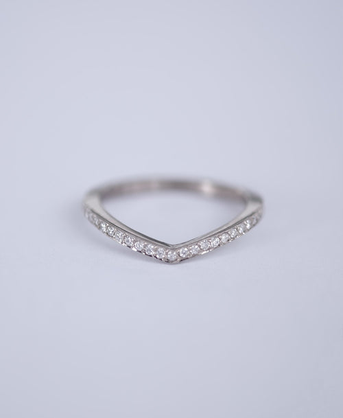 Eternity Curved Band | 9ct White Gold