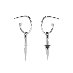 Dagger Signature Hoop | Sterling Silver