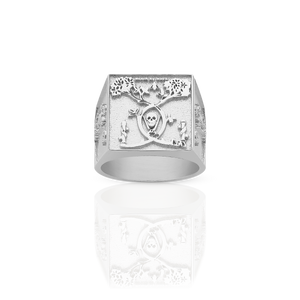 Death By Work Ring | Sterling Silver
