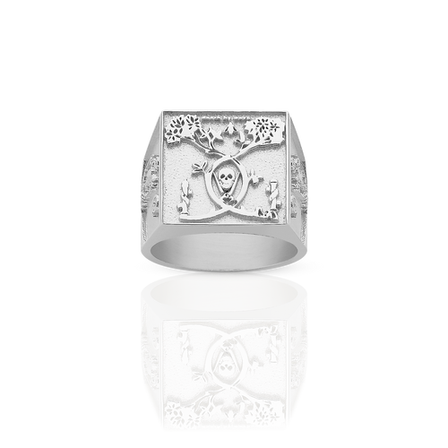 Andrew McLeod Death By Work Ring | Sterling Silver