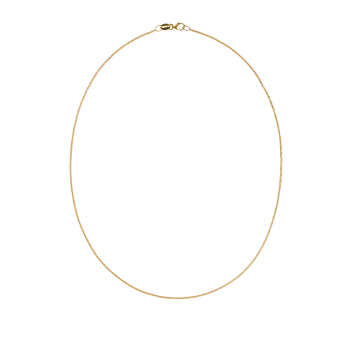 Diamond Curb Necklace | 9ct Yellow Gold