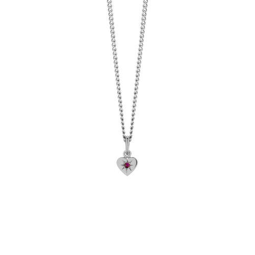 Diamond Heart Necklace | Sterling Silver