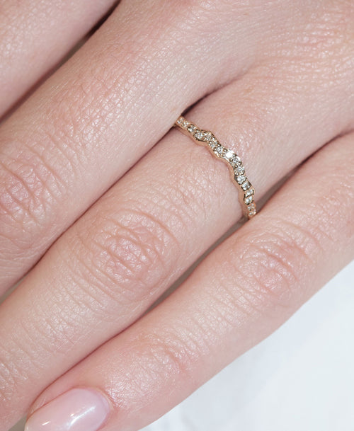 Eternal Band Pave | 9ct Yellow Gold