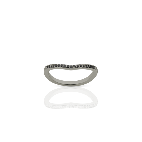 Eternity Curved Band | 18ct White Gold