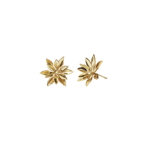 Fleur Stud Earrings | Gold Plated