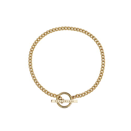 Fob Anklet | Gold Plated