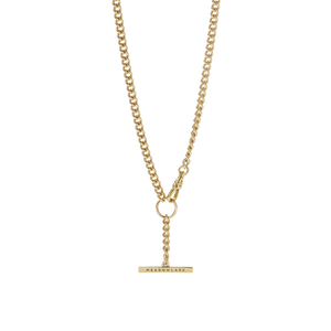 Fob Chain Necklace | Gold Plated