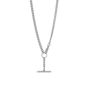 Fob Chain Necklace | Sterling Silver