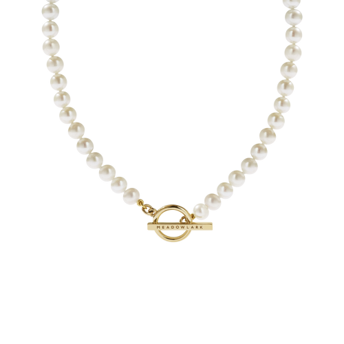 Fob Pearl Necklace | 9ct Yellow Gold