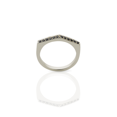 Geo Ring Arc | 9ct White Gold
