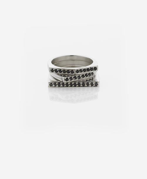 Geo Ring Arc | Sterling Silver