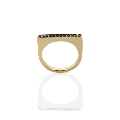 Geo Ring Flat | 9ct Yellow Gold