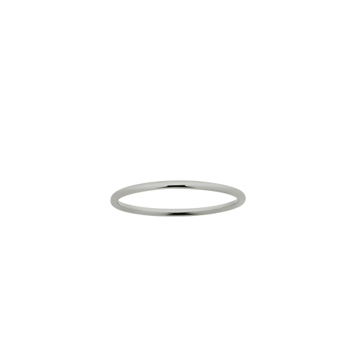 Halo Band 1mm | 18ct White Gold