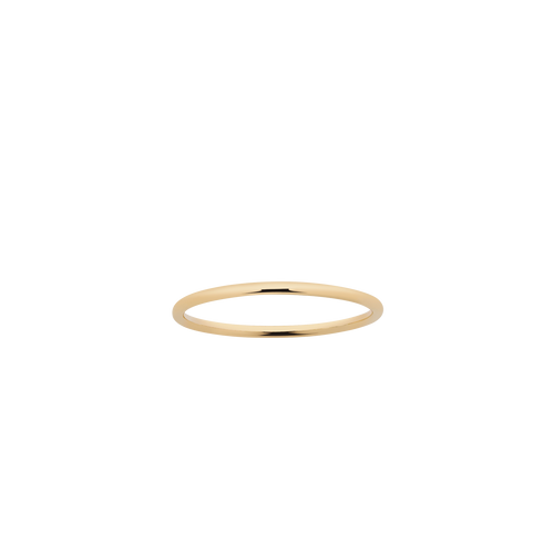 Halo Band 1mm | 18ct Yellow Gold