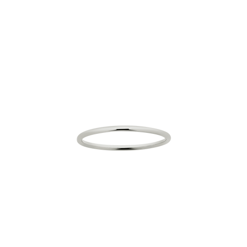 Halo Band 1mm | 9ct White Gold
