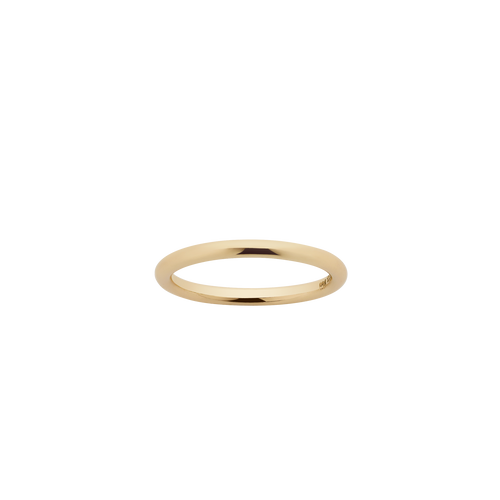 Halo Band 2mm | 14ct Yellow Gold