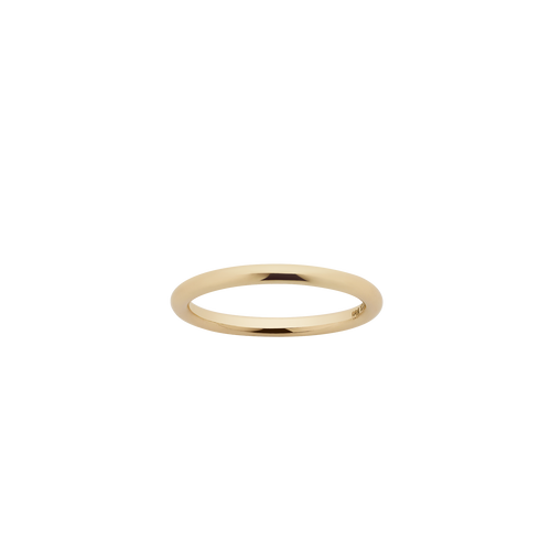 Halo Band 2mm | Gold Plated