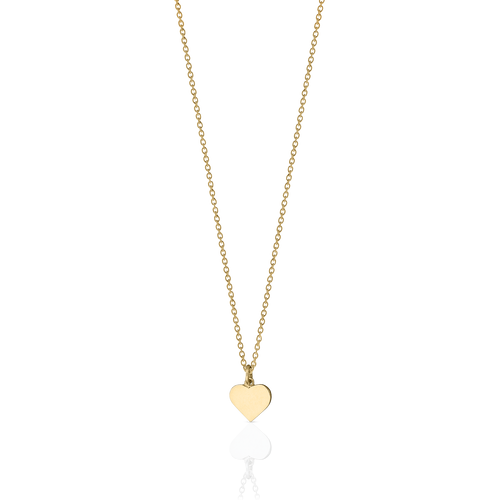 Heart Charm Necklace | 9ct Yellow Gold